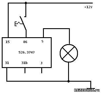 Реле 526.3747-03 схема подключения